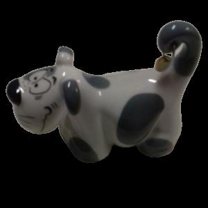 Waldi The Dog, sale e pepe in porcellana a forma di cane bianco e grigio, vendita on line   GIOIELLERIA BRUNI Imperia