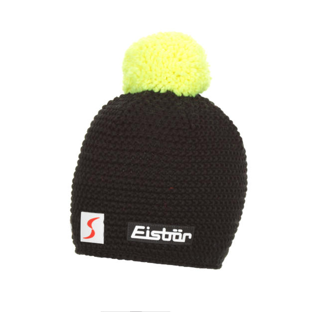Berretto EISBAR JAMIE POMPON MÜ SP schwarz-light yellow