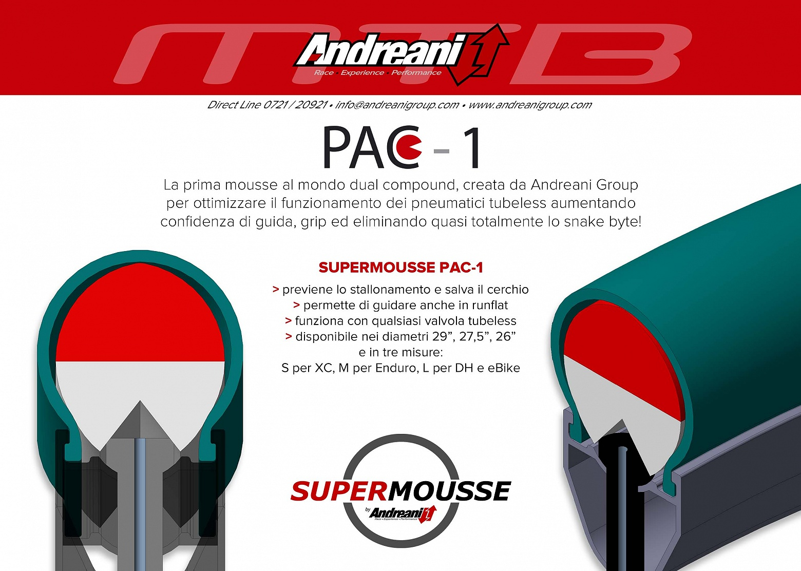ANDREANI Inserto Supermousse D.35 Tg. S