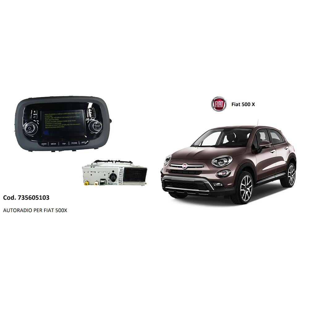 AUTORADIO FIAT 500X NUOVA E ORIGINALE 735605103