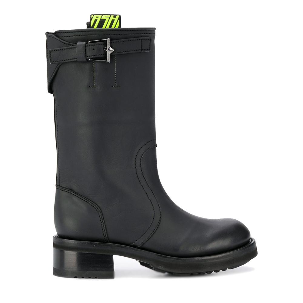 Stivali in pelle nera modello Troy 003 - ASH