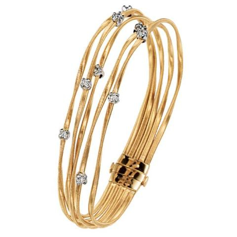 BRACCIALE BICEGO MINI MARRAKECH IN ORO GIALLO 18KT CON   DIAMANTI