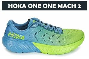Hoka one one Mach 2 storm blue/lime green