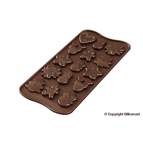 Stampo cioccolatini Xmas Buttons