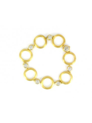 BRACCIALE BICEGO JAIPURE DIAMONDS IN ORO GIALLO 18 KT E  DIAMANTI