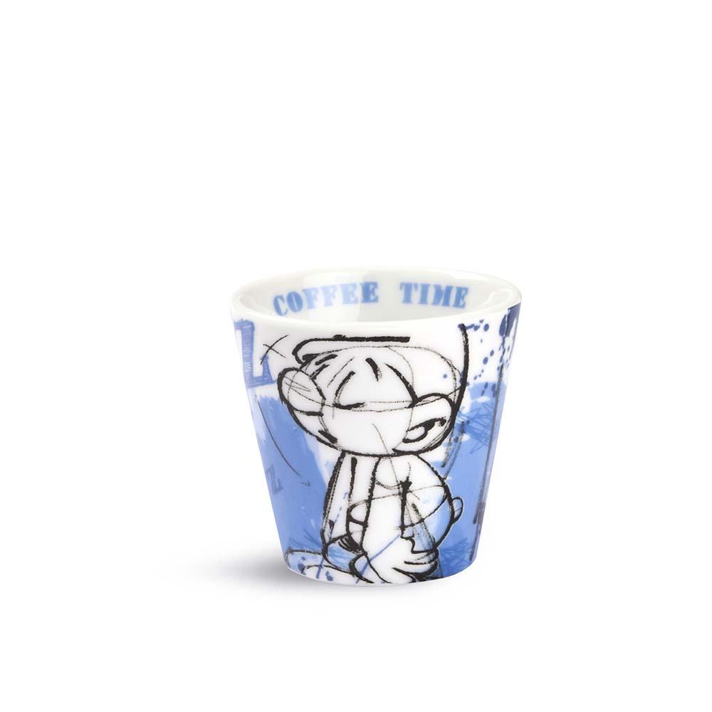 TAZZINA DA CAFFE' CON PUFFO TONTOLONE IN PORCELLANA EGAN