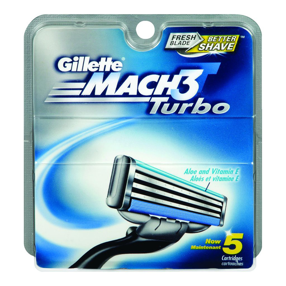 GILLETTE Mach3 Turbo Ricarica x5