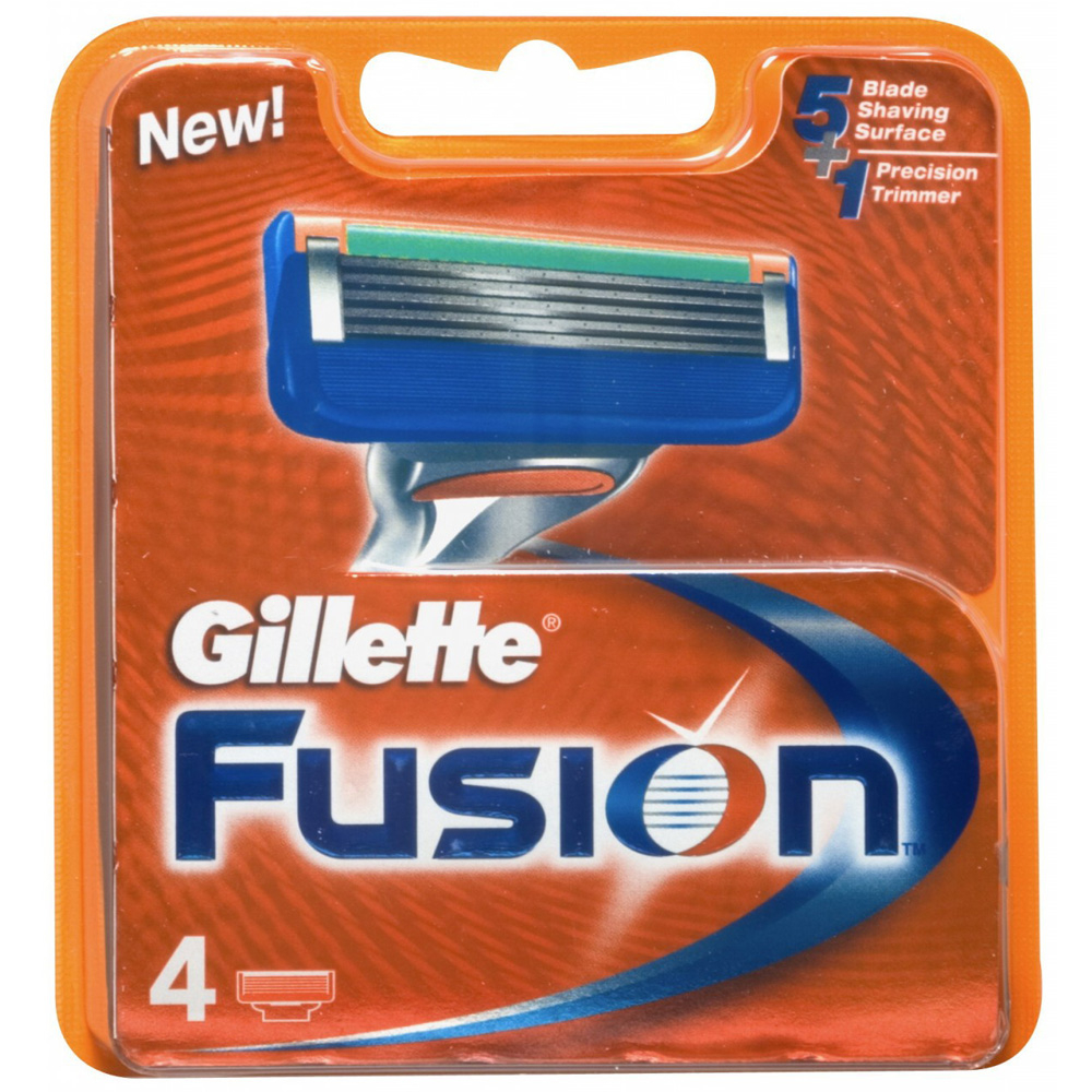 GILLETTE Fusion Ricarica x4