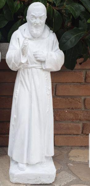 Statua padre Pio in cemento fatta artigianalmente semi lavorata altezza 60cm