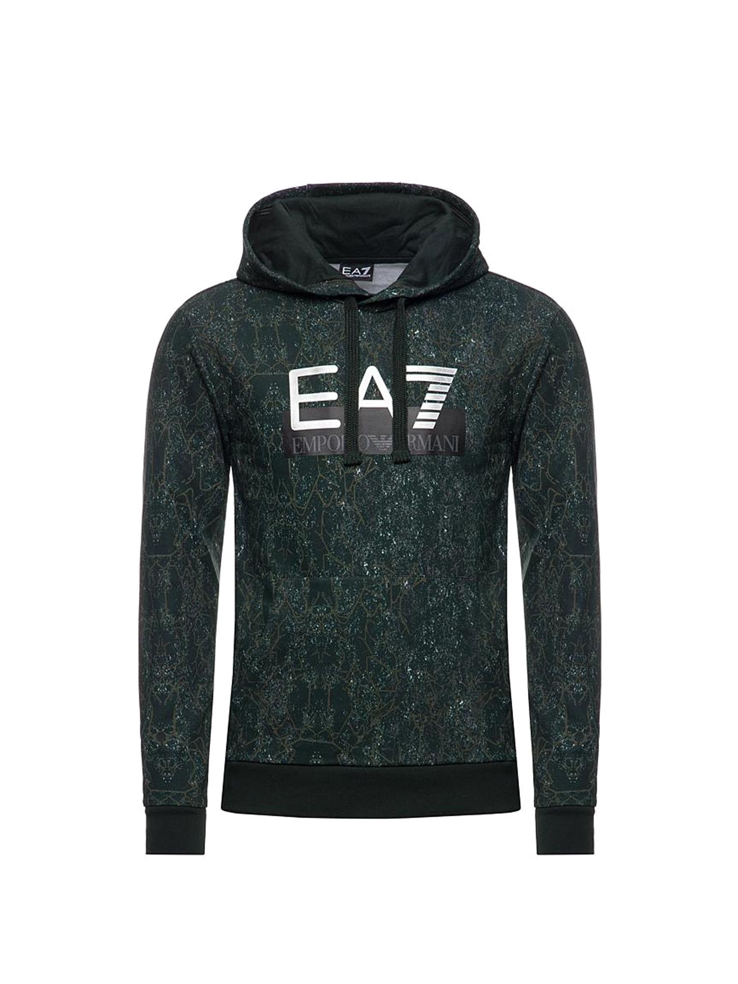 Felpa uomo EA7 con maxi logo