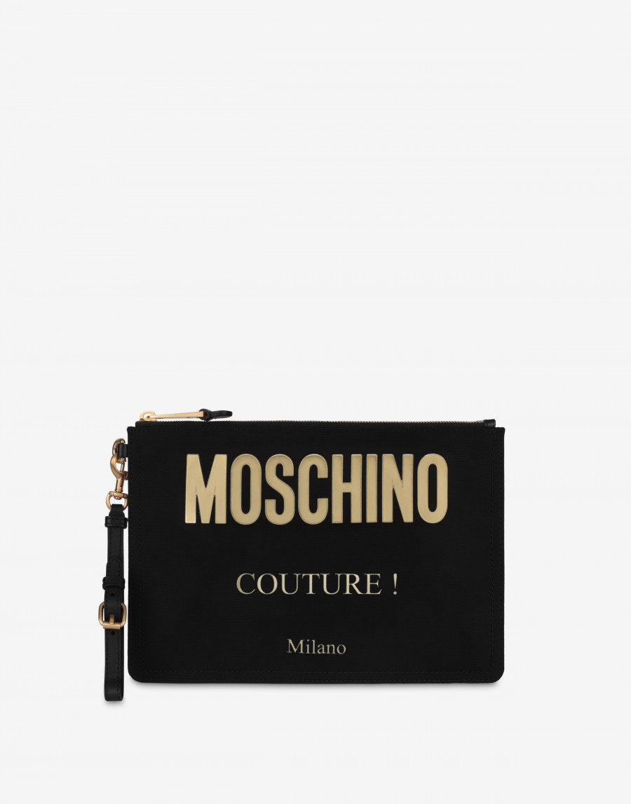 Clutch in Nylon cordura Moschino Couture