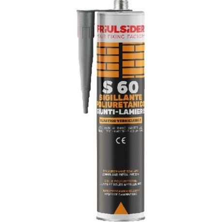 Friulsider sigillante poliuretanico s60 giunti-lamiere grigio 800ml