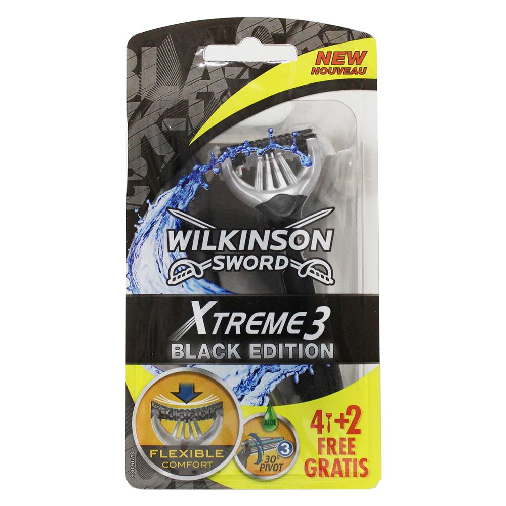 WILKINSON Sword Xtreme3 Black Edition Rasoio 4+2