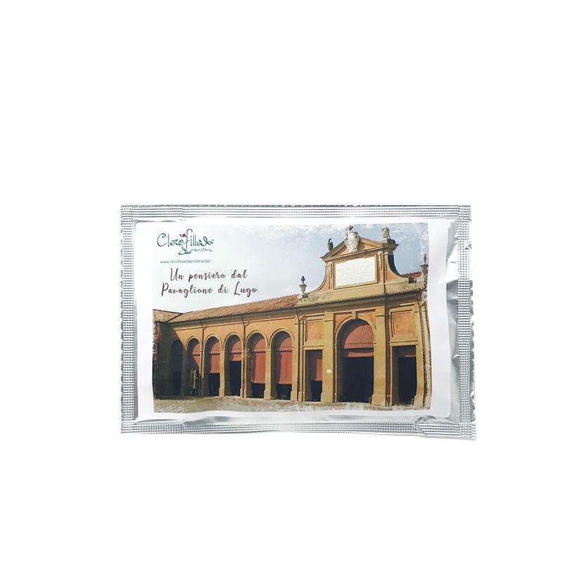 Cartolina Pavaglione con Infuso Giardino della Nonna