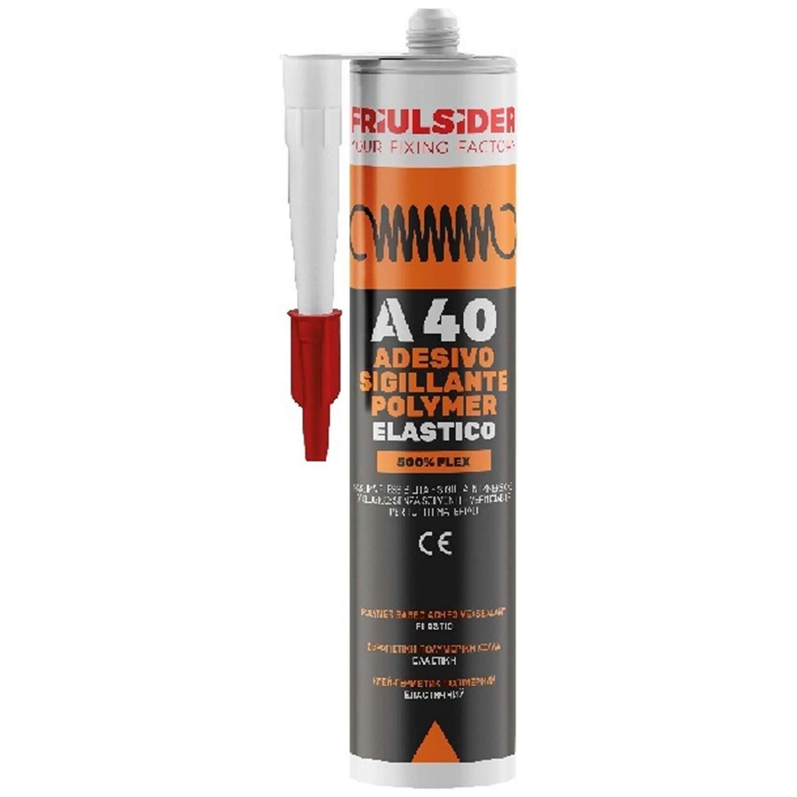 Friulsider adesivo sigillante elastico flex A40 bianco 290ml