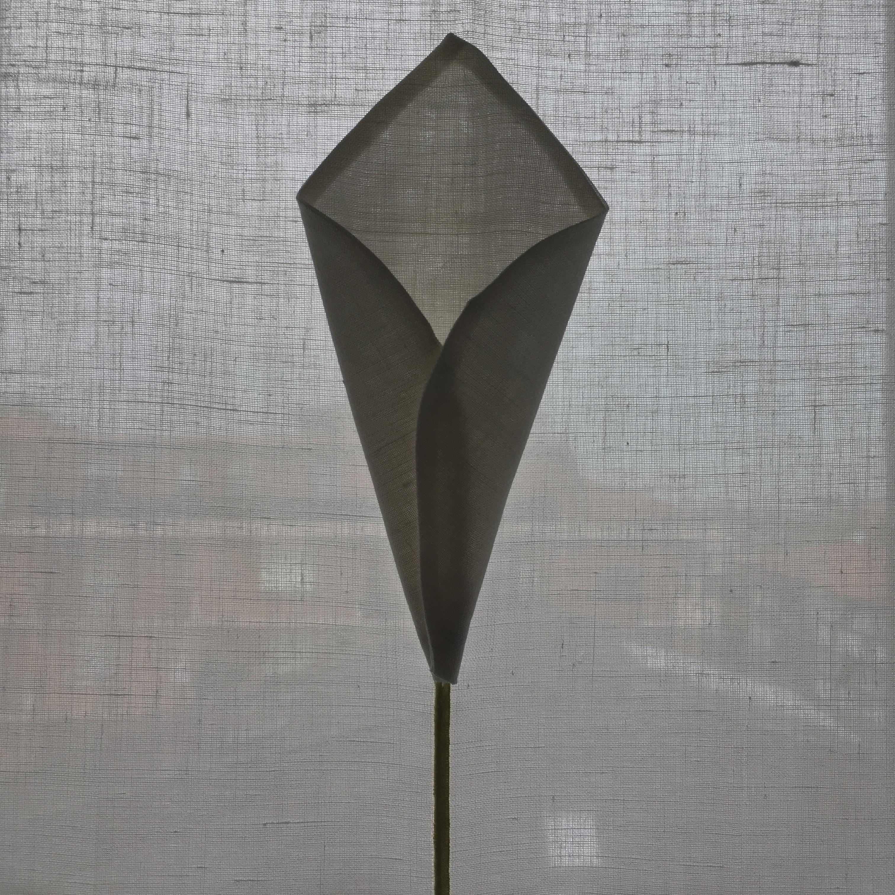 Tenda a vetro con fiore applicato ( modello fiore:calla)