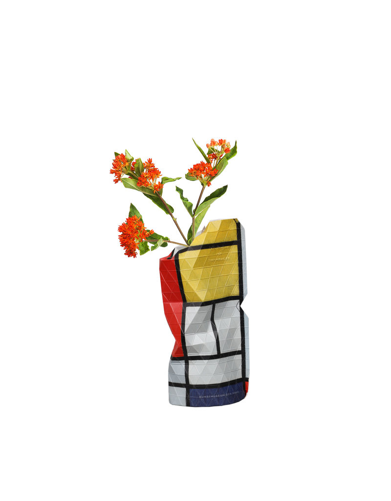 Paper Vase Cover Composition Red - Mondrian (small)