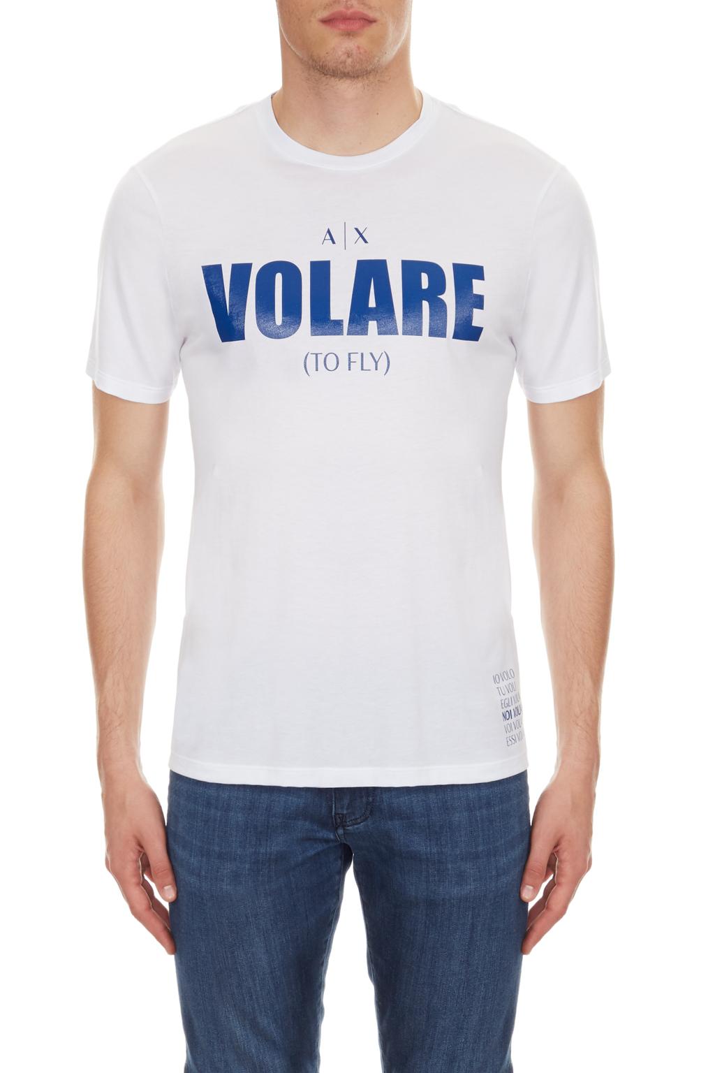 T-shirt uomo scritta volare ARMANI EXCHANGE