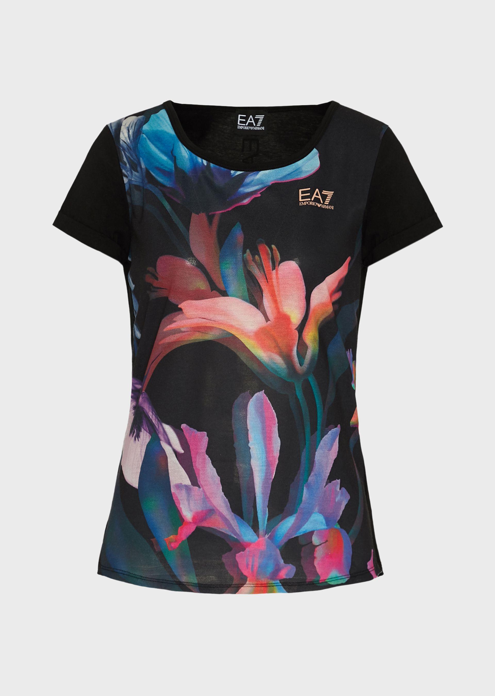 T-shirt donna ARMANI EA7 fiorata