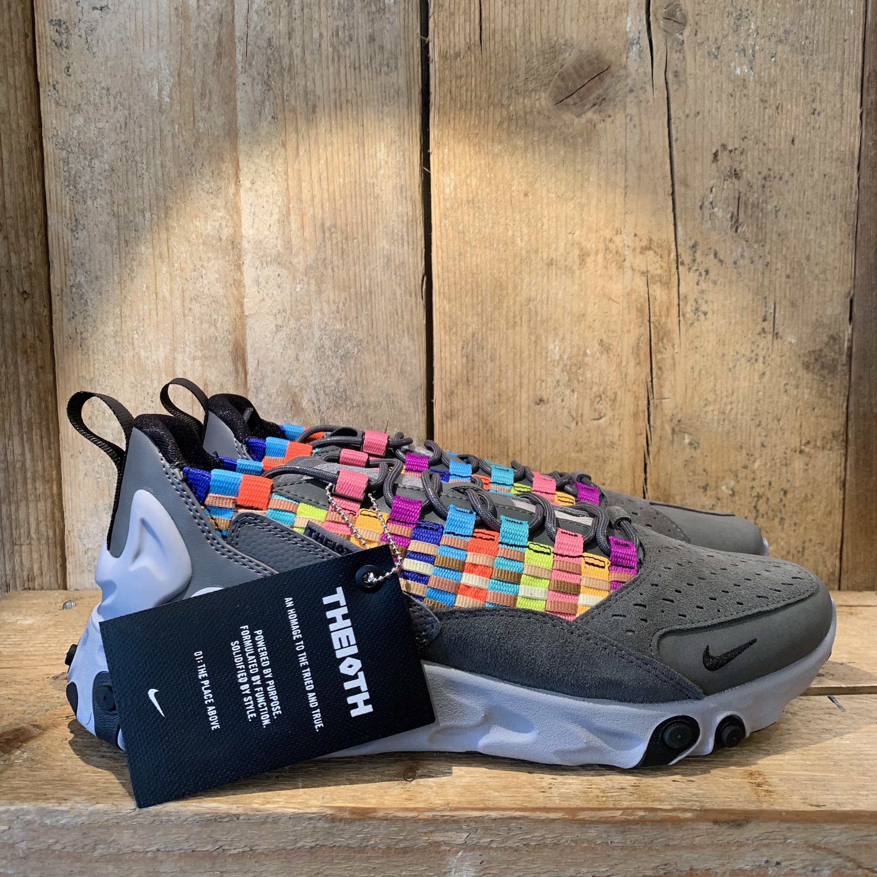 Scarpa Nike React Sertu Grigia e Multicolor