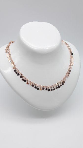 Collana Donna fantasia di stelle in argento ramato, vendita online   GIOIELLERIA BRUNI Imperia