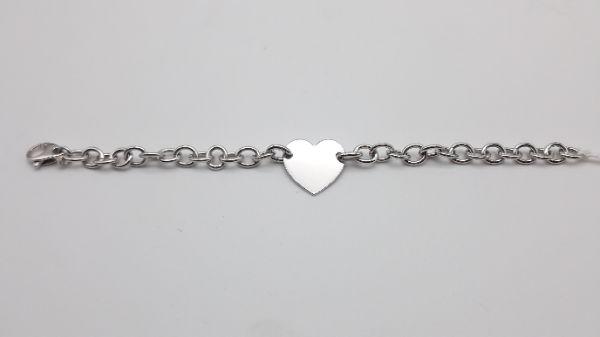 Bracciale donna rollò con cuore in argento 925, vendita online | GIOIELLERIA BRUNI Imperia
