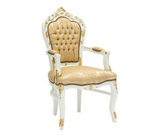 Poltrona  barocco bianca e oro