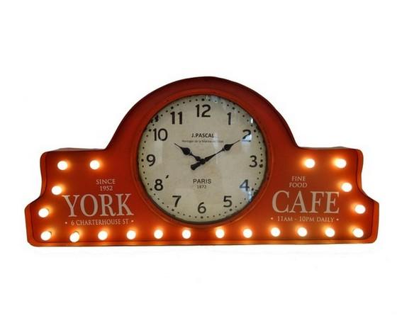 Pannello orologio a led in metallo