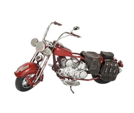 Modellino motocicletta Chopper rossa
