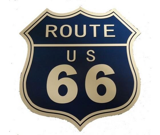 Pannello route us 66 blu bianco