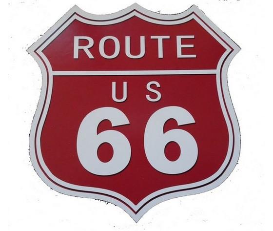 Pannello route us 66 rosso