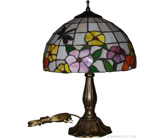 Lampada da tavolo Tiffany Floreale