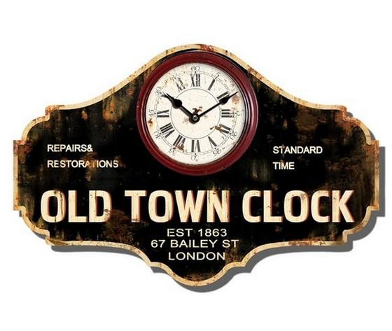 Orologio da parete in legno anticato old town clock