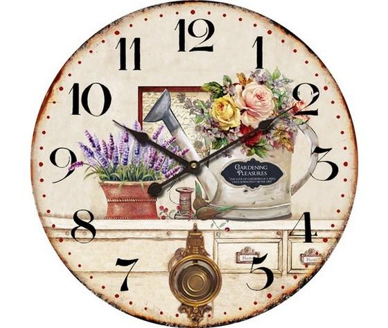 Orologio da parete con pendolo fiori