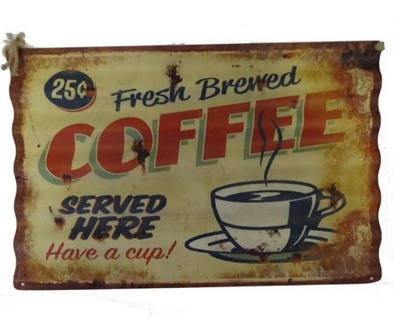 Pannello in metallo coffee
