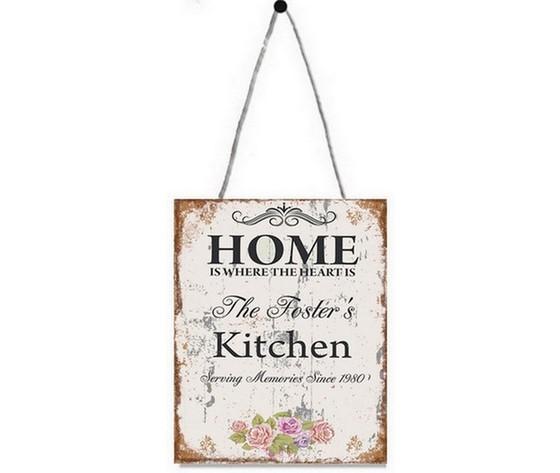 Targa da appendere home kitchen