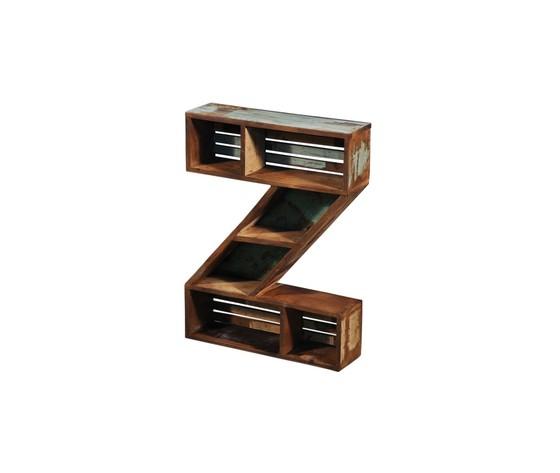 Libreria mensola a froma di Z legno industrial