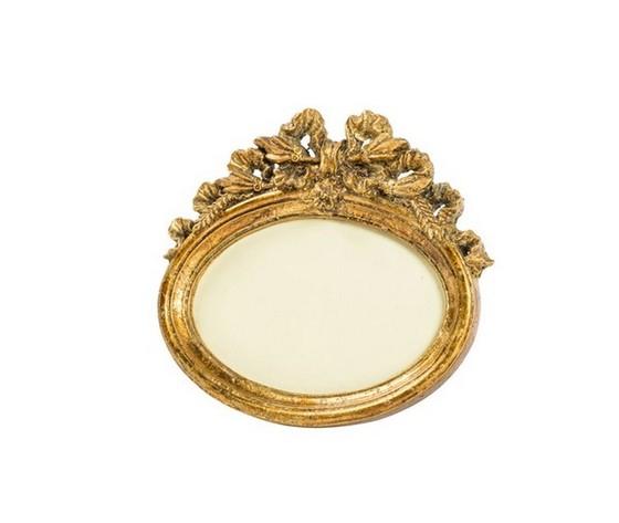 Portafoto resina barocco oro ovale natura