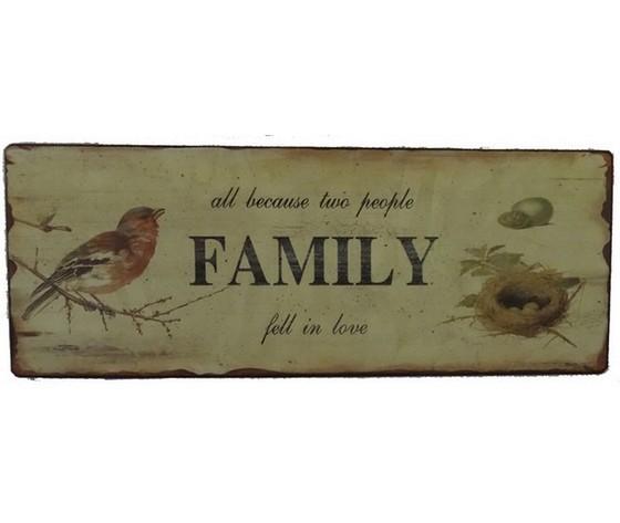 Targa pannello family famiglia, in latta