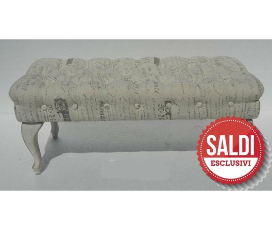 Panchetta divanetto tessuto chiaro scritte