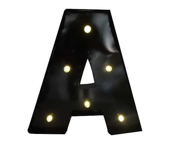 Lettera a led E