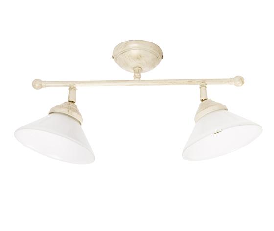 Plafoniera in ottone 2 luci