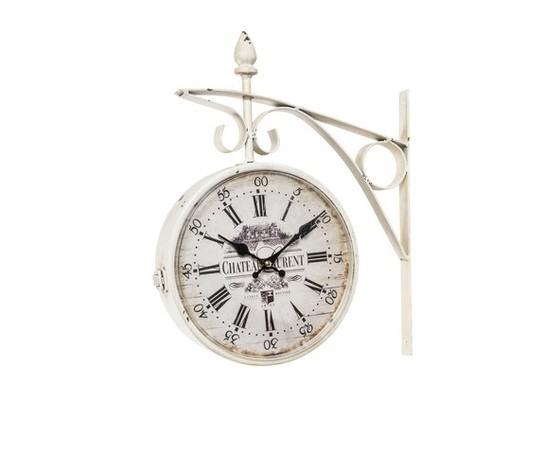 orologio da stazione bianco shabby
