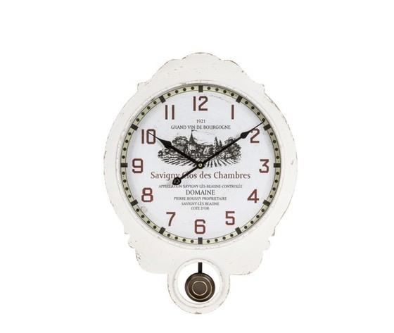orologio a pendolo bianco