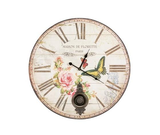 orologio con pendolo e farfalle