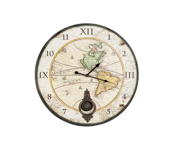 orologio a pendolo con mappamondo
