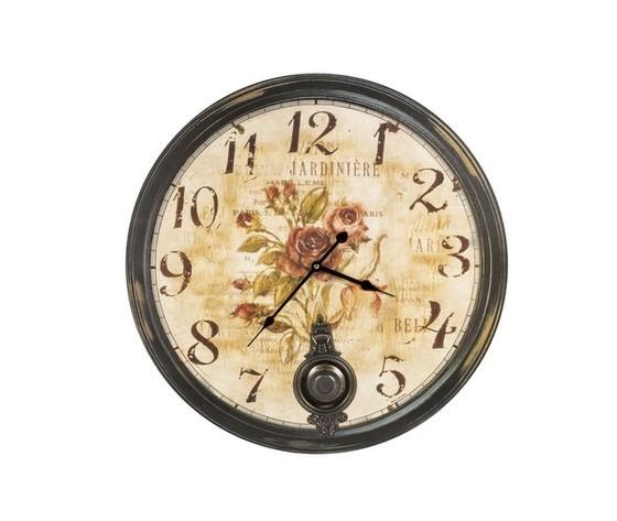 orologio con pendolo e cornice