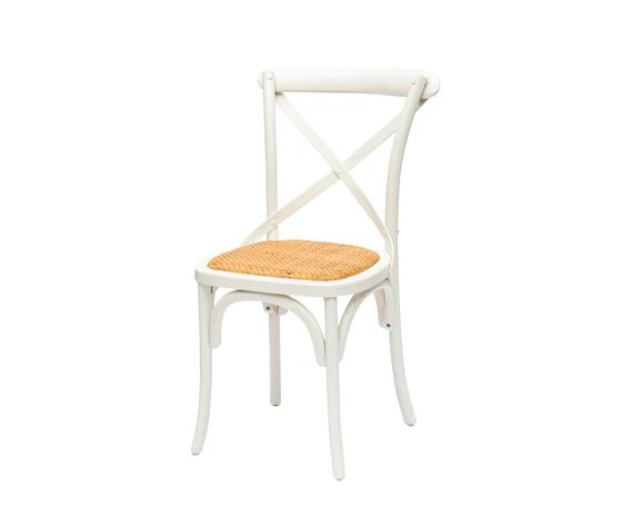 sedia cross back bianco