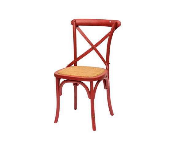 Sedia cross back rossa