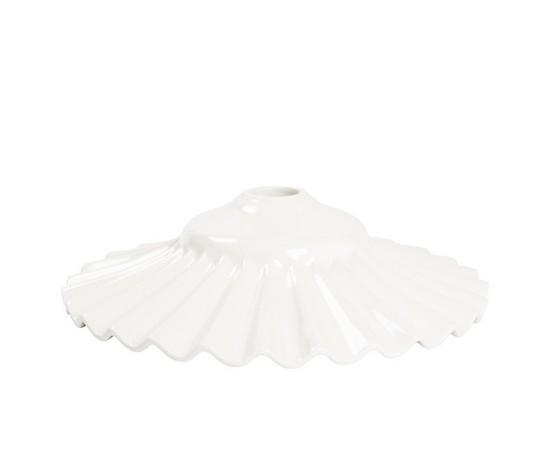piatto in ceramica plissettato bianco 38cm